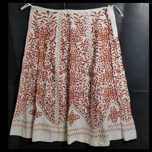 Soft Surroundings Embroidered Skirt XL